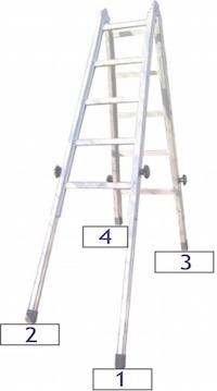 Schwarz HENGMEI Alu Multiger/üst Alu Leiter Arbeitsger/üst Arbeitsplattform Ger/üst Leiter Treppenleiter bis 150 kg belastbar